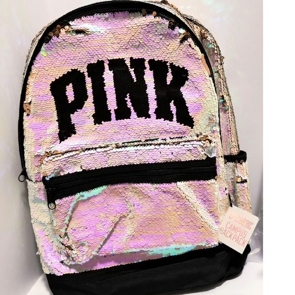 ffc699a89b PINK Victoria s Secret holographic backpack